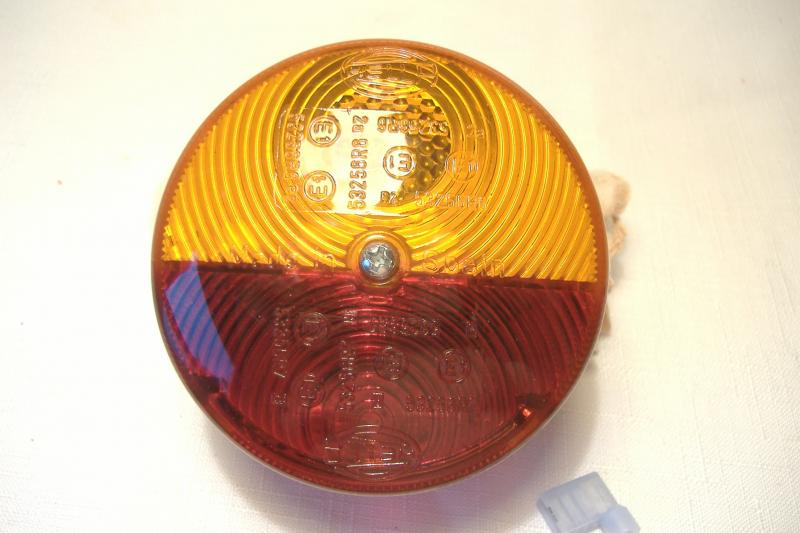 Velorex Sidecar Taillight Amber Red