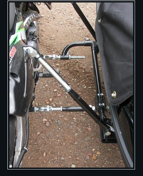 Velorex Sidecar Universal Mounting Kit installed on Motorcycle